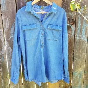 Old Navy XL Tall chambray popover tunic